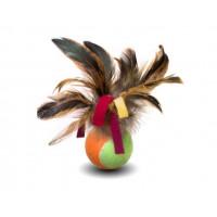 Cat Toys Мячик с куриными перьями 6 см