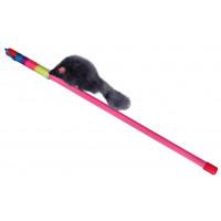 "DEZZIE Игрушка для кошек дразнилка ""Серая мышь"", 46см, пластик"