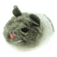 """DEZZIE ВиброИгрушка для кошек мышь """"Актив"""" №3, 8см, цвет серо-белый"""