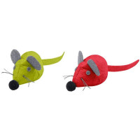 """Hunter игрушка для кошек """"Мышки"""" текстиль красная, зеленая"""