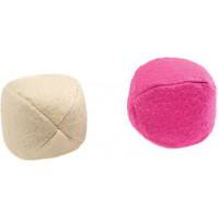 """Hunter игрушка для кошек """"Мячики"""" текстиль кремовая, розовая"""