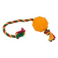 """Doglike Игрушка для собак """"Мяч Космос с канатом и этикеткой"""""""