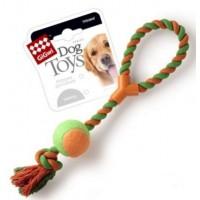Dog Toys Мячик на веревке, оранжевый 45 см