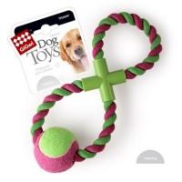 Dog Toys Мячик на веревке, зеленый 45 см