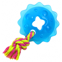 "Petstages игрушка для собак Mini ""ОРКА кольцо с канатом"" диаметр 8 см"