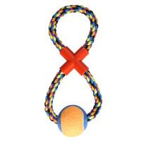 """TRIOL Игрушка для собак """"Веревка-восьмёрка, мяч"""" 295мм"""
