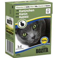 Bozita консервы для кошек кусочки в соусе кролик, 370 гр.
