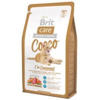 Brit Care Cat Cocco Gourmand беззерновой с уткой и лососем для привередливых кошек