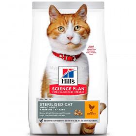 HILLS SP Adult Cat Sterilised сухой корм для стерилизованных кошек до 6 лет с курицей