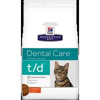 HILLS PD t/d сухой корм для кошек с заболеваниями полости рта