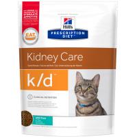 HILLS PD K/D сухой корм для взрослых кошек с заболеваниями почек тунец