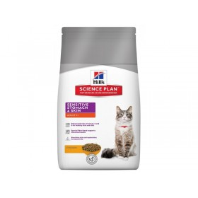 HILLS SP Adult Cat Sensitive stomach/Skin сухой корм для взрослых кошек Деликат
