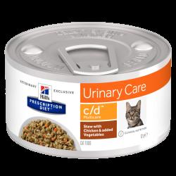 HILLS PD C/D консерва для кошек с урологическим синдромом курица в рагу 82 гр.