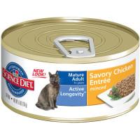 HILLS SP Mature Adult Cat консерва для пожилых кошек 7+ курица