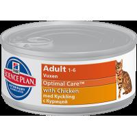 HILLS SP Adult Cat Chicken консервы для взрослых кошек с курицей 82 гр