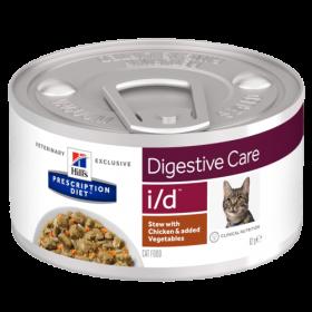 HILLS PD i/d консерва для кошек с заболеваниями ЖКТ рагу с курицей 82 гр.