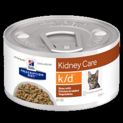 HILLS PD K/D консерва для кошек с заболеваниями почек рагу с курицей 82 гр.