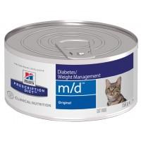 HILLS PD m/d консервы для лечения сахарного диабета и ожирения для кошек всех пород