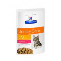 HILLS PD C/D multicare пауч для кошек с урологическим синдромом, лосось, 85 гр.