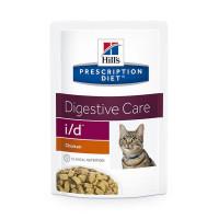 HILLS PD i/d пауч для кошек с заболеваниями ЖКТ, курица, 85 гр