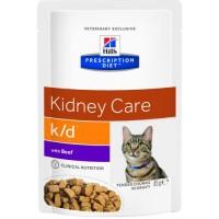 HILLS PD K/D пауч для кошек с заболеваниями почек говядина