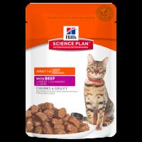 HILLS SP влажный корм для взрослых кошек говядина пауч 85 гр.