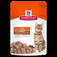 HILLS SP Adult Cat Turkey влажный корм для взрослых кошек индейка пауч 85 гр.