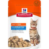 HILLS SP влажный корм для взрослых кошек океаническая рыба пауч 85 гр.