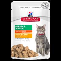 HILLS SP влажный корм для взрослых кошек идеальный вес курица пауч 85 гр.