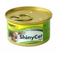 Gimpet Консервы Shiny Cat с тунцом и травкой для кошек, 70гр