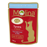 MOLINA пауч для кошек Тунец в желе, 100 гр