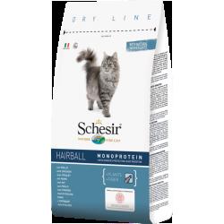Schesir полнорационный сухой корм  для длинношерстных кошек