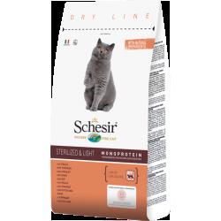 Schesir полнорационный сухой корм для взрослых кошек стерилизованных и с избыточным весом