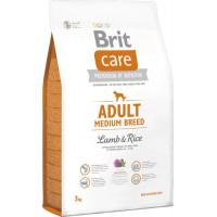 Brit Care Dog Adult Medium Breed Lamb&Rice для собак средних пород, ягненок рис