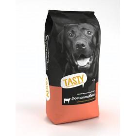 TASTY Сухой корм для взрослых собак с говядиной