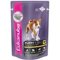 Eukanuba Dog паучи корм для щенков в соусе 100 г