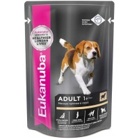 Eukanuba Dog паучи корм для собак ягненок в соусе 100 г