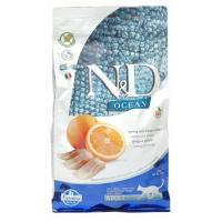 Farmina N&D Cat OCEAN HERRING&ORANGE Adult Беззерновой корм для взрослых кошек Сельдь c Апельсином