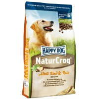 Happy Dog Natur Kroq говядина с рисом для взрослых собак всех пород
