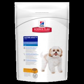 HILLS SP Mini Mature Adult Dog 7+ Active Longevity сухой корм для пожилых собак мини пород, курица