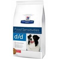 Hills PD D/D корм для взрослых собак всех пород гипоаллергенный лосось рис