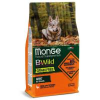 Monge BWild Dog GRAIN FREE беззерновой корм для собак всех пород утка с картофелем