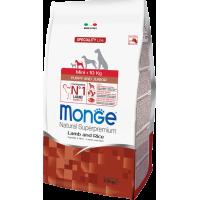 Monge Dog Speciality Mini корм для щенков мелких пород ягненок с рисом