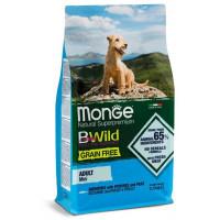 Monge BWild Dog GRAIN FREE Mini беззерновой корм анчоуса с картофелем и горохом для взрослых собак мелких пород