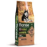 Monge BWild Dog GRAIN FREE беззерновой корм из лосося и гороха для взрослых собак всех пород