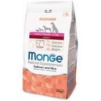 Monge  Dog Specialiti  Extra Small корм для взрослых собак миниатюрных пород лосось с рисом