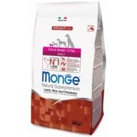 Monge  Dog Specialiti  Extra Small корм для взрослых собак миниатюрных пород ягненок с рисом и картофелем