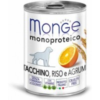 Monge Dog Monoprotein Fruits консервы для собак паштет из индейки с рисом и цитрусовыми 400 гр