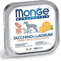 Monge Dog Monoprotein Fruits консервы для собак паштет из индейки и цитрусовыми 150 гр