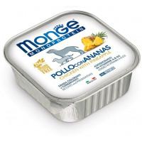 Monge Dog Monoprotein Fruits консервы для собак паштет из курицы с ананасом 150 гр.